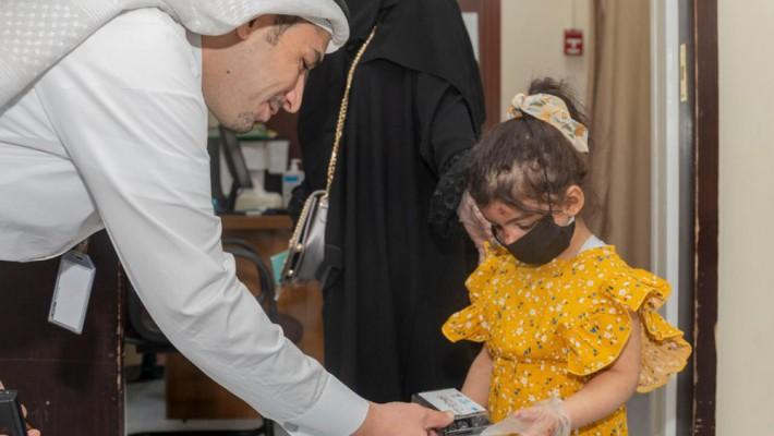 جمعية طيبة تعايد الأبطال في اول أيام العيد بالمدينة المنورة