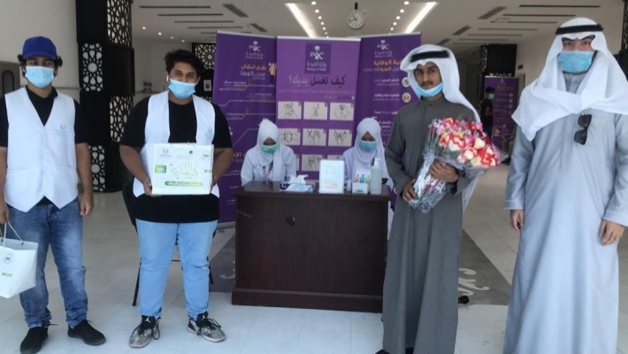 1600 معايدة من جمعية طيبة النسائية بالمدينة لرجال الأمن والصحة